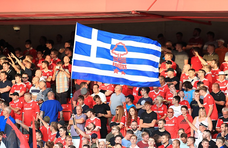 Nottingham Forest and supporters unite for Greece