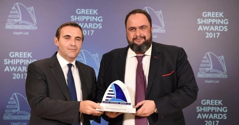 Ο Πρόεδρος της Capital Maritime & Trading Corp. κ. Βαγγέλης Μαρινάκης βραβεύθηκε ως Προσωπικότητα του 2017 στην Ελληνική Ναυτιλία
