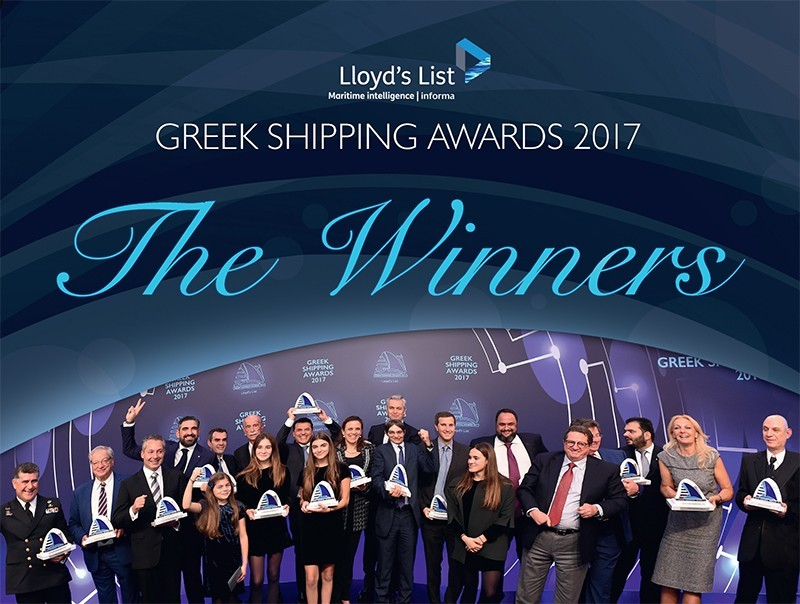 Evangelos M. Marinakis was Lloyd's List's Greek Shipping Personality of the Year 2017 at the Greek Shipping Awards