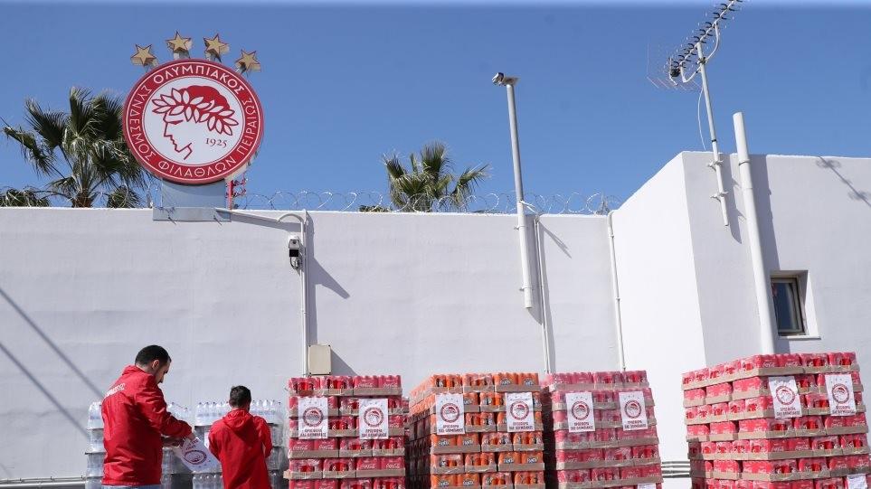 Ο Ολυμπιακός ξεκίνησε την αποστολή βοήθειας στον Έβρο