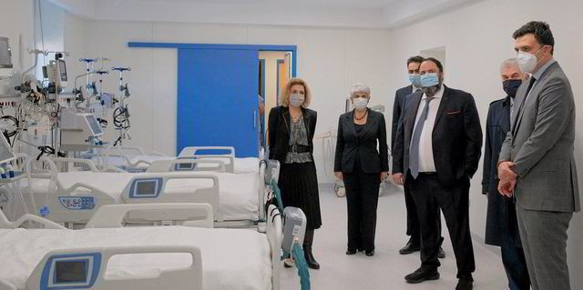 Frangou and Marinakis deliver $1.8m hospital donation as Covid-19 ravages Greece