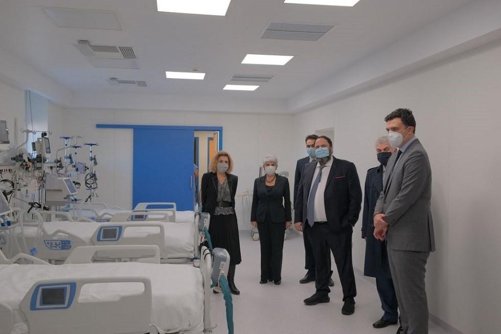 Νοσοκομείο Νίκαιας : Εγκαίνια για τις 12 νέες κλίνες ΜΕΘ δωρεά των Β. Μαρινάκη, Α. Φράγκου και ΙΟΝ Α.Ε.