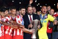 Olympiacos won the 17th double of its history and the third under the leadership of Evangelos Marinakis.