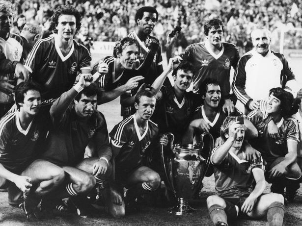 Nottingham Forest with the European Cup